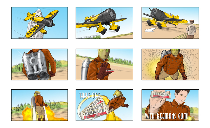 Ed Cook Storyboards and Illustration - commercial storyboards