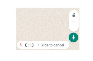 Record long whatsapp voice message without pressing microphone and whatsapp auto play voice recording feature
