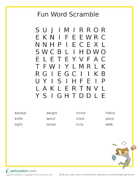 Kids Activity: Word Scramble