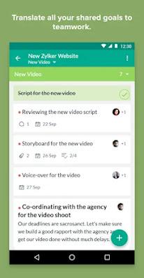 Screenshot Zoho Connect