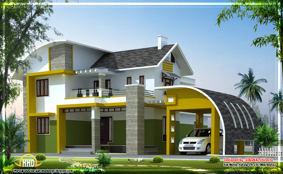 Contemporary villa in Kerala - 2592 Sq.Ft. - April 2012