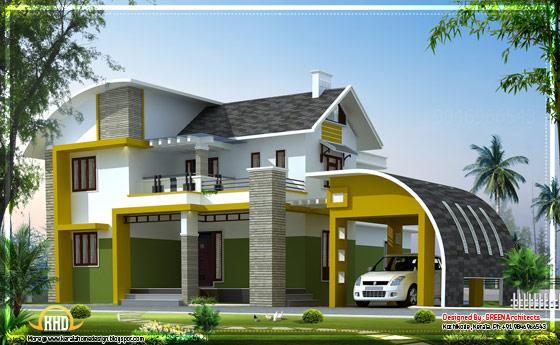 Contemporary villa in Kerala - 2592 Sq.Ft. - April 2012