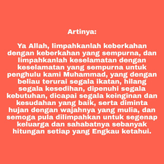 sholawat nariyah teks artinya