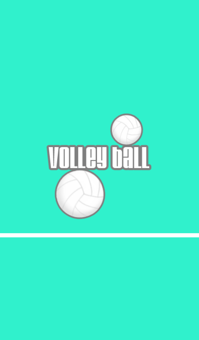 Greenish-blue color volleyball theme