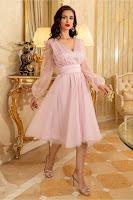 Rochie de ocazie Ella Collection Madi roz