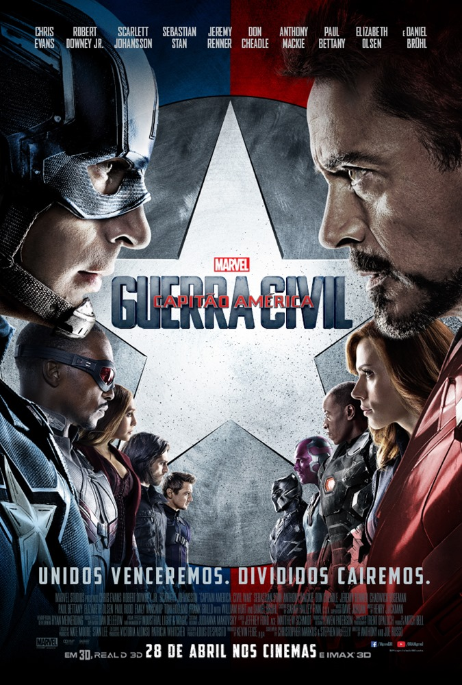Capitão América: Guerra Civil Torrent – BluRay 720p e 1080p Dual Áudio (2016)