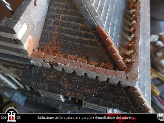Parziale demolizione del muretto
