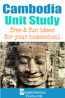 This Cambodia unit study is packed with activities, crafts, book lists, and recipes for kids of all ages! Make learning about Cambodia in your homeschool even more fun with these free ideas and resources. #Cambodia #khmer #angkor #homeschool