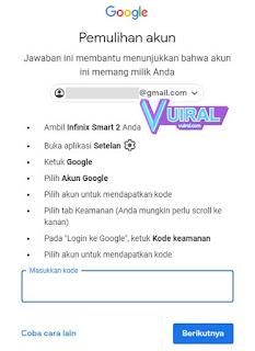 Cara Mengatasi Lupa Password Gmail Di Android Melalui Verifikasi Kode Keamanan