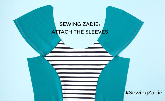 Sewing Zadie - How to attach raglan sleeves - Tilly and the Buttons