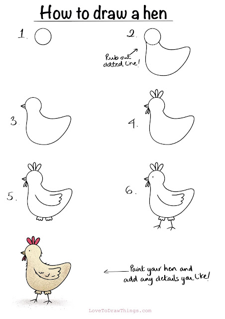 Easy birds to draw. Beginner step by step drawing