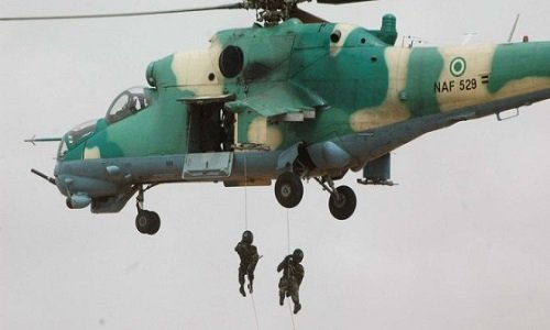 Military airstrike destroys B'Haram's logistics base in Borno