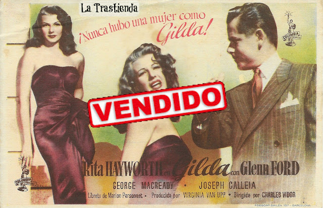 Programa de Cine - Gilda (Horizontal) - Glenn Ford - Rita Hayworth