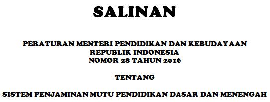 SPM Sesuai Permendikbud No 28 Tahun 2016