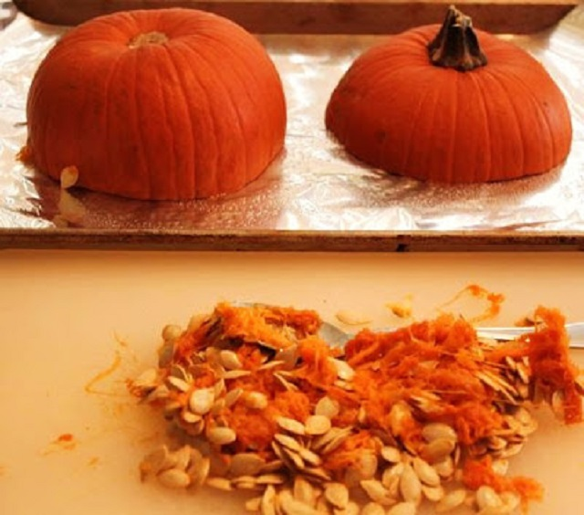 a pumpkin baked quick bread into a scones with butter and herb topping