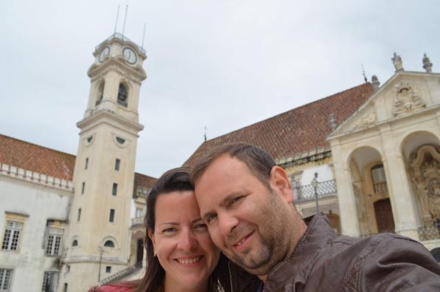 Christian Gutierrez e Priscila Gutierrez em Coimbra