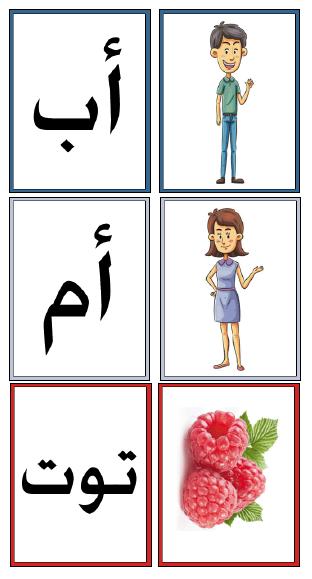 ملف مطابقة الصورة والكلمة لتعليم الكلمات