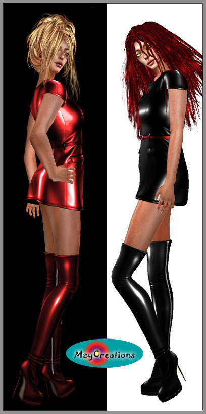 a87aac8357c754 Or on Second Life marketplace: MayCreations Kinky mesh dresses ·  MayCreations Kinky latex boots