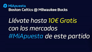 William hill promo Celtics vs Bucks 17 enero 2020