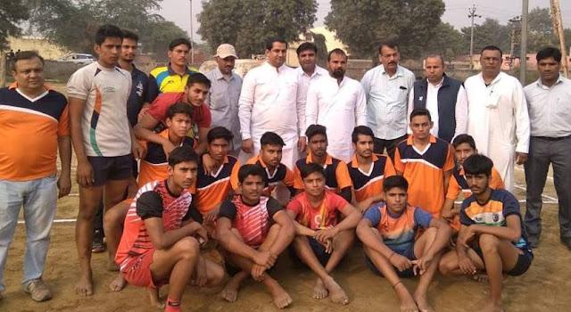 Kabaddi Tournament under-17 Sonipat and Faridabad at Under-19, Marri Baji congratulated the winners