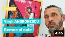 Virgil Andronescu citește poezie din semne și cuie
