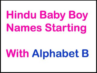 Hindu Baby Boy Names Starting With B With Meaning