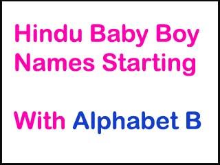 Hindu Baby Boy Names Starting With B