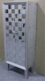 Armario 2 Puertas Plata Espejos Bantiana