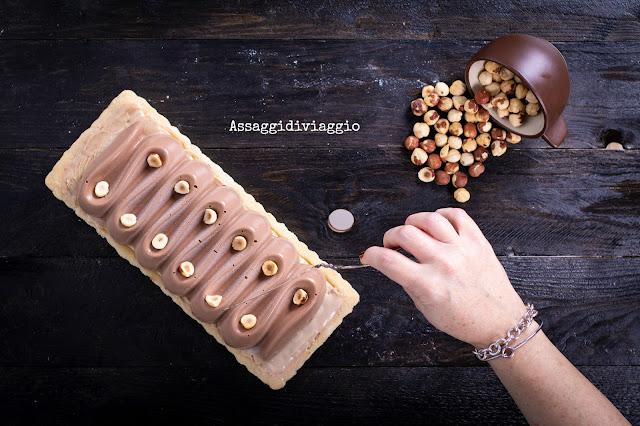 Crostata alle nocciole e cioccolato