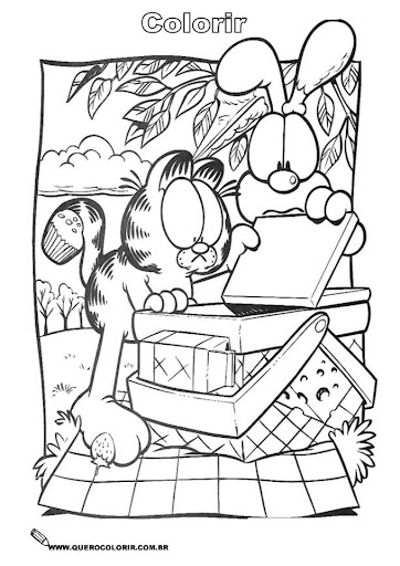 coloring pages and more com | garfield coloring pages | Minister Coloring