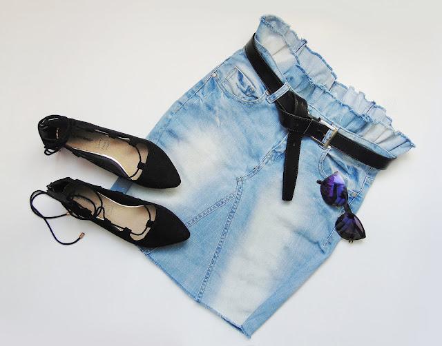Spódnica z jeansów DIY