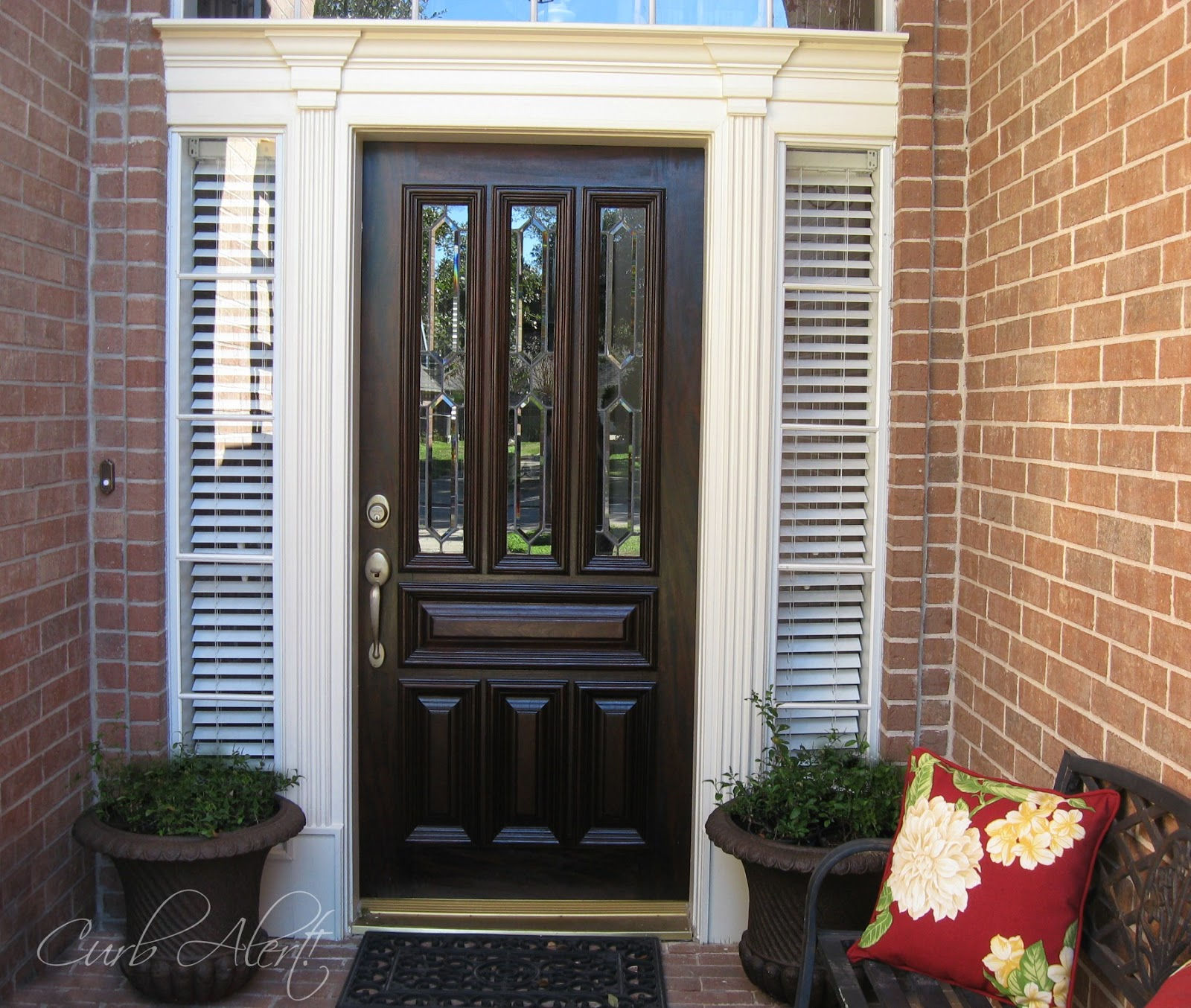 Updating Curb Appeal {front Door Molding}