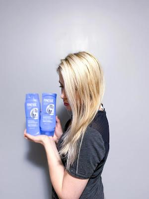 Finesse Silver Beauty Shampoo Conditioner   Platinum Blonde Hair   Purple Shampoo   Canadian Blogger