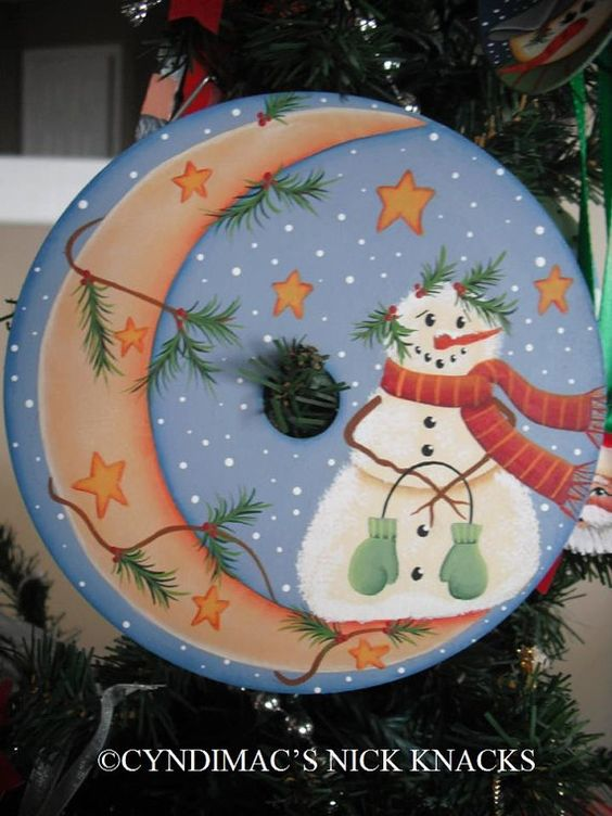 11 adornos navide os reciclando discos de cds que no - Decoraciones navidenas con reciclaje ...