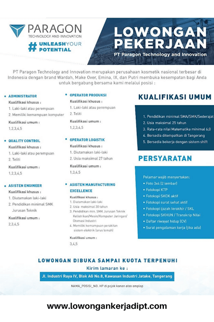 PT Paragon Technology and Inovation