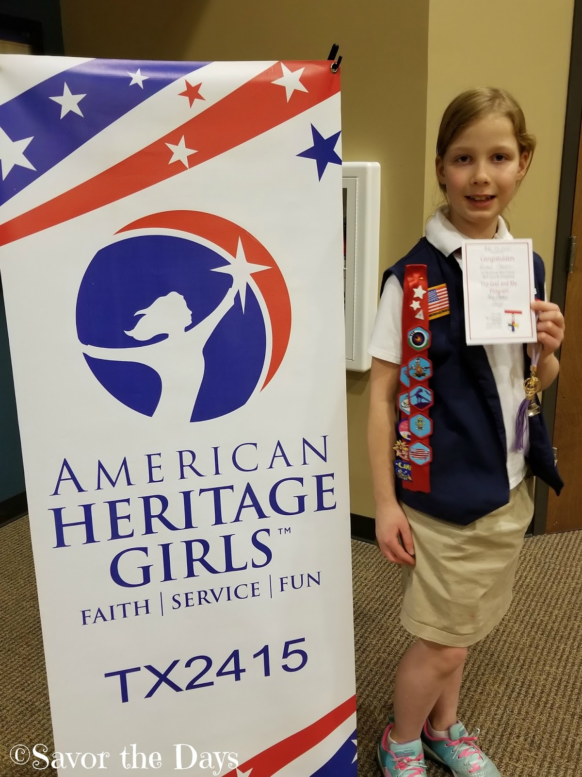 American Heritage Girls Mid Year Awards Ceremony