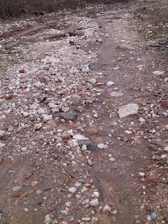 stones on way