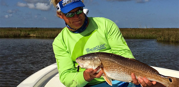Capt Blair with a Louisiana redfish