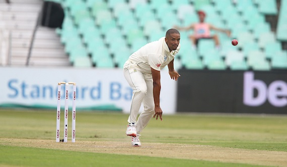 Vernon Philander of South Africa during day 1 of the 1st Castle Lager Test Match between South Africa and Sri Lanka