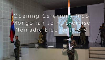 Opening Ceremony: 14th edition of Indo-Mongolian Joint Exercise Nomadic Elephant 2019