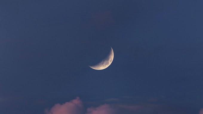 Linda Tarde Lua no Espaço