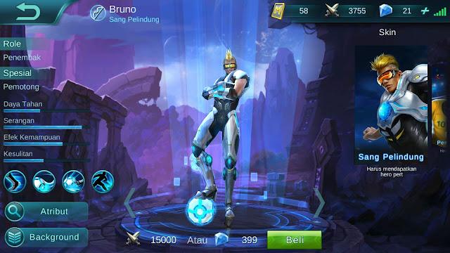 Hero Bruno ( Sang Pelindung ) High Damage Build/ Set up Gear