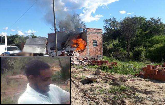 Morre pai que provocou incêndio que matou os três filhos na zona rural de Pindaí