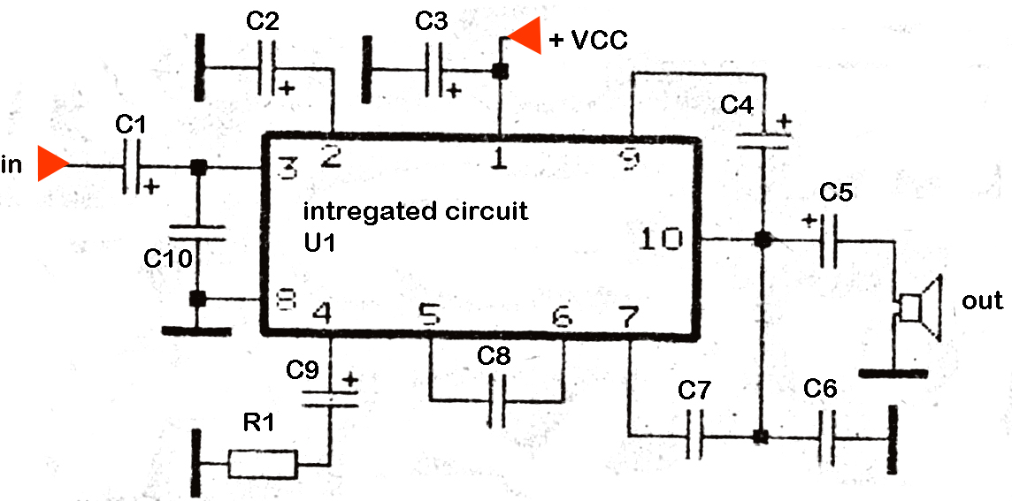 6 18 volt audio power amplifier diy circuit rh avecircuits blogspot com 6L6 Tube Amplifier Schematic Tube Amplifier Schematic Diagrams
