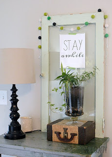 How to update your home for Spring with plants - apothecary jar, plant in glass jar, ivy plant