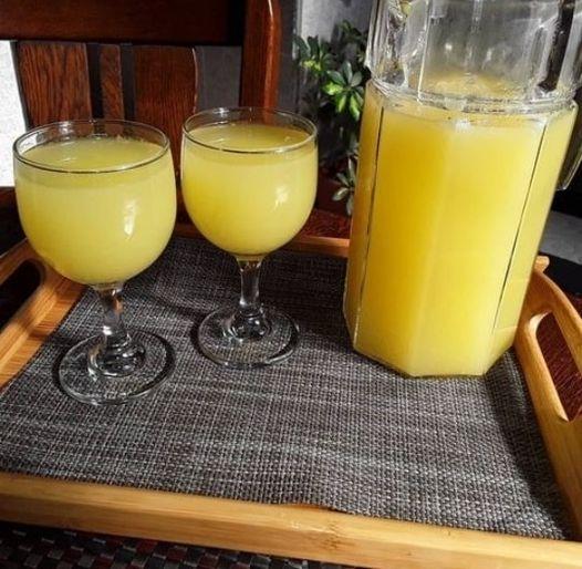 عصير التفاح والليمون