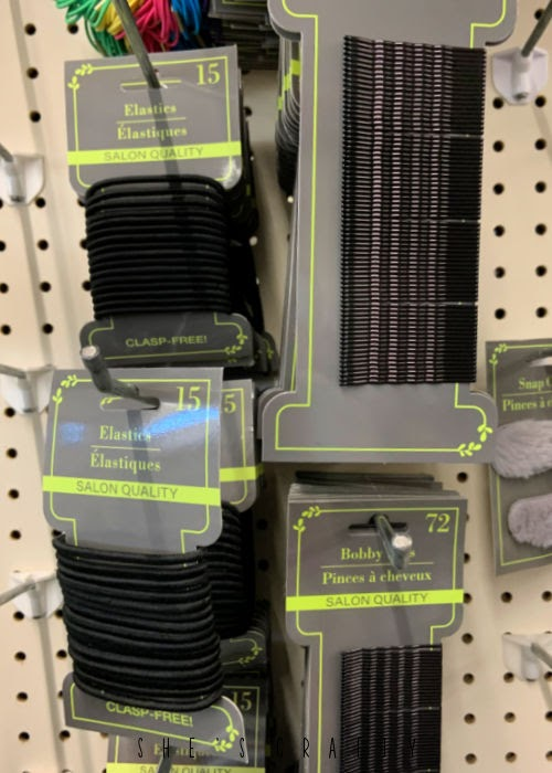 Great supplies to buy at The Dollar Store - hair ties and bobby pins