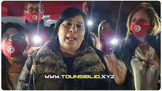 (بالفيديو) عبير موسي تعود للاعتصام أمام فرع اتحاد علماء المسلمين بالعاصمة و تصفهم بوكر تفريخ الارهابيين !