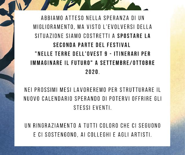 Festival rimandato a settembre 2020!