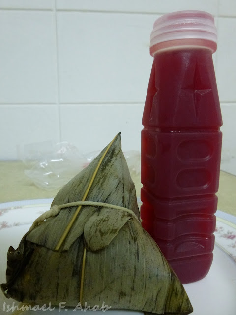 Thai sticky rice with juice